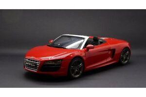 1:18 Kyosho 09217r Audi R8 V10 Spyder Rouge brillant -