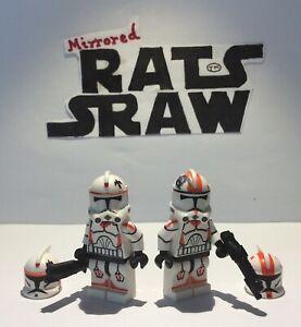 Lego-Star-Wars-Minifigures-Clone-Custom-Troopers-WAXER-amp-bouillir-212th-Delux