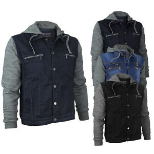Vertical-Eagle-Juniors-Boy-039-s-Kids-Stylish-Hooded-Cotton-Denim-Jean-Jacket