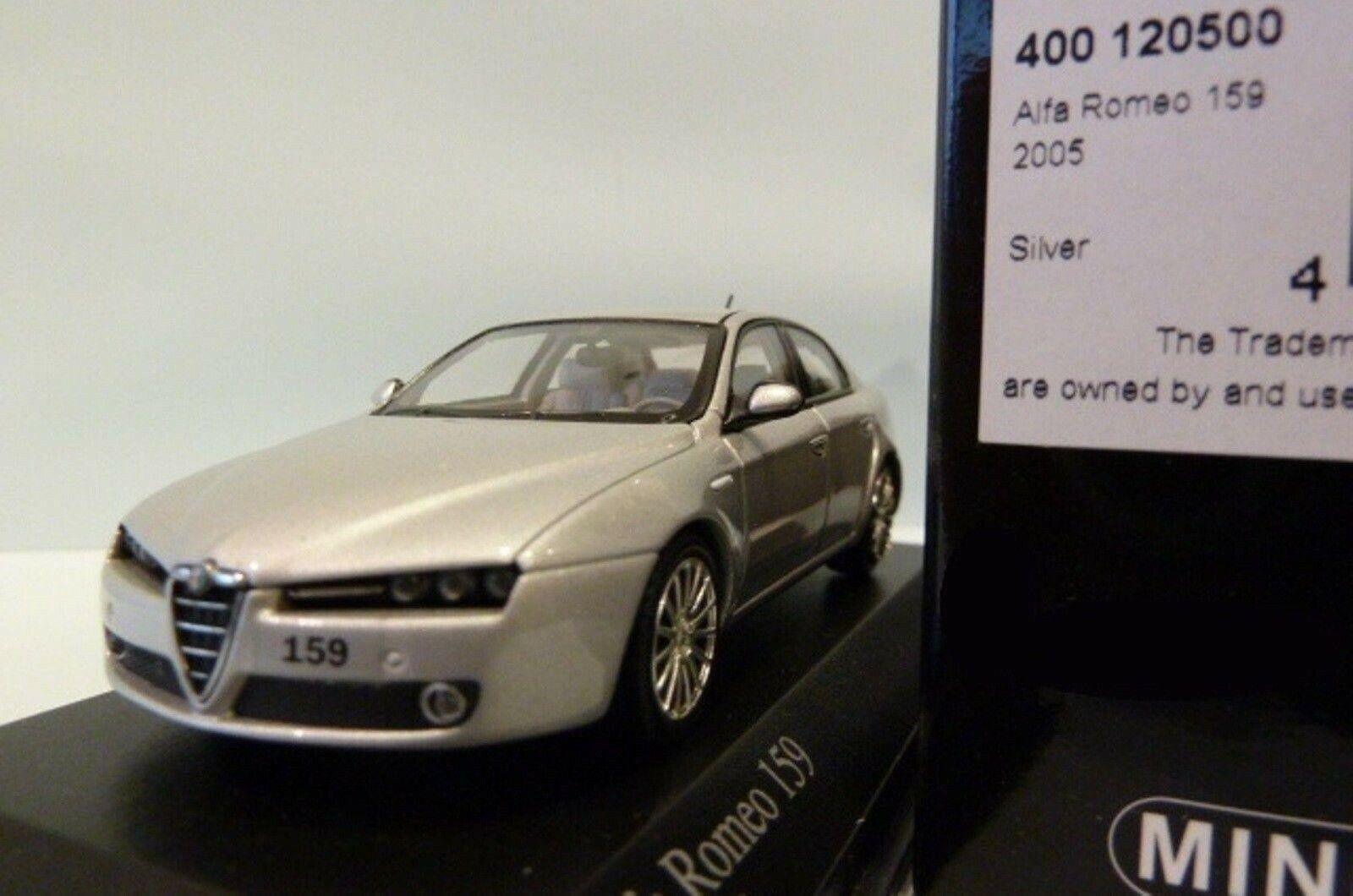 Wow extremadonnate raro de Alfa Romeo 159 Sedan 3.2 V6 Q4 2005 argento 1 43 Minichamps-GT
