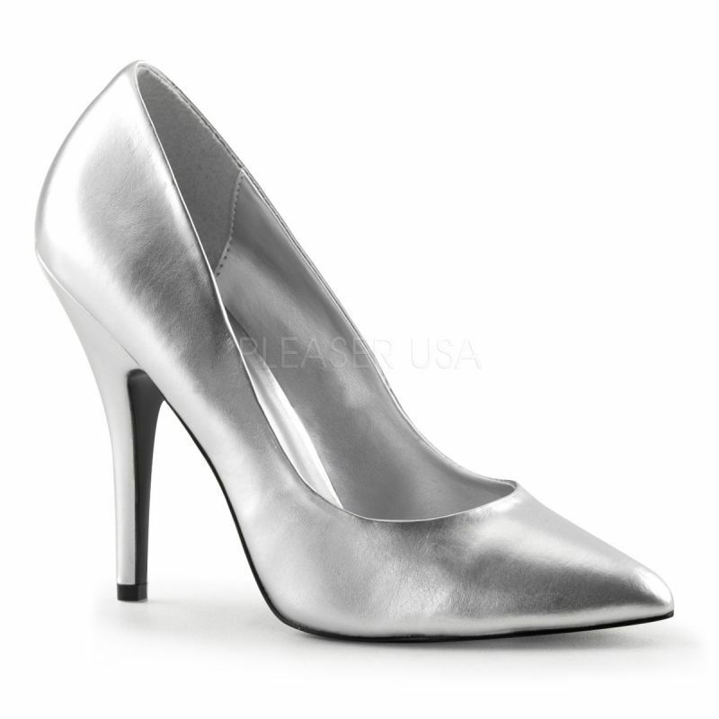 PLEASER SEDUCE-420 Pump Silber Klassisch Elegant Cyber Cyber Cyber Cosplay Disco Tabledance 6cab1b