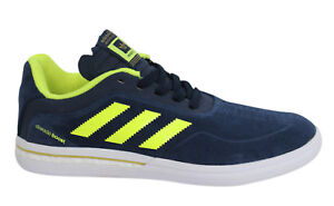 finest selection 1034c 532b6 Image is loading Adidas-Dorado-Adv-Boost-Lace-Up-Navy-Mens-
