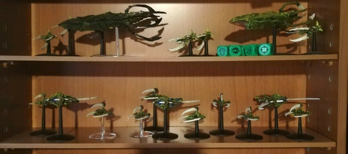 Flotta Tiranidi Battlefleet Gothic Tyranids Fleet  + set dadi   dice set  vendita online sconto prezzo basso