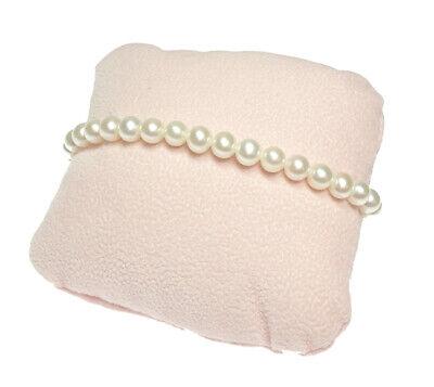 Nihama Bracciale Perle 6,5//7 oro bianco gancio piccolo con coppette