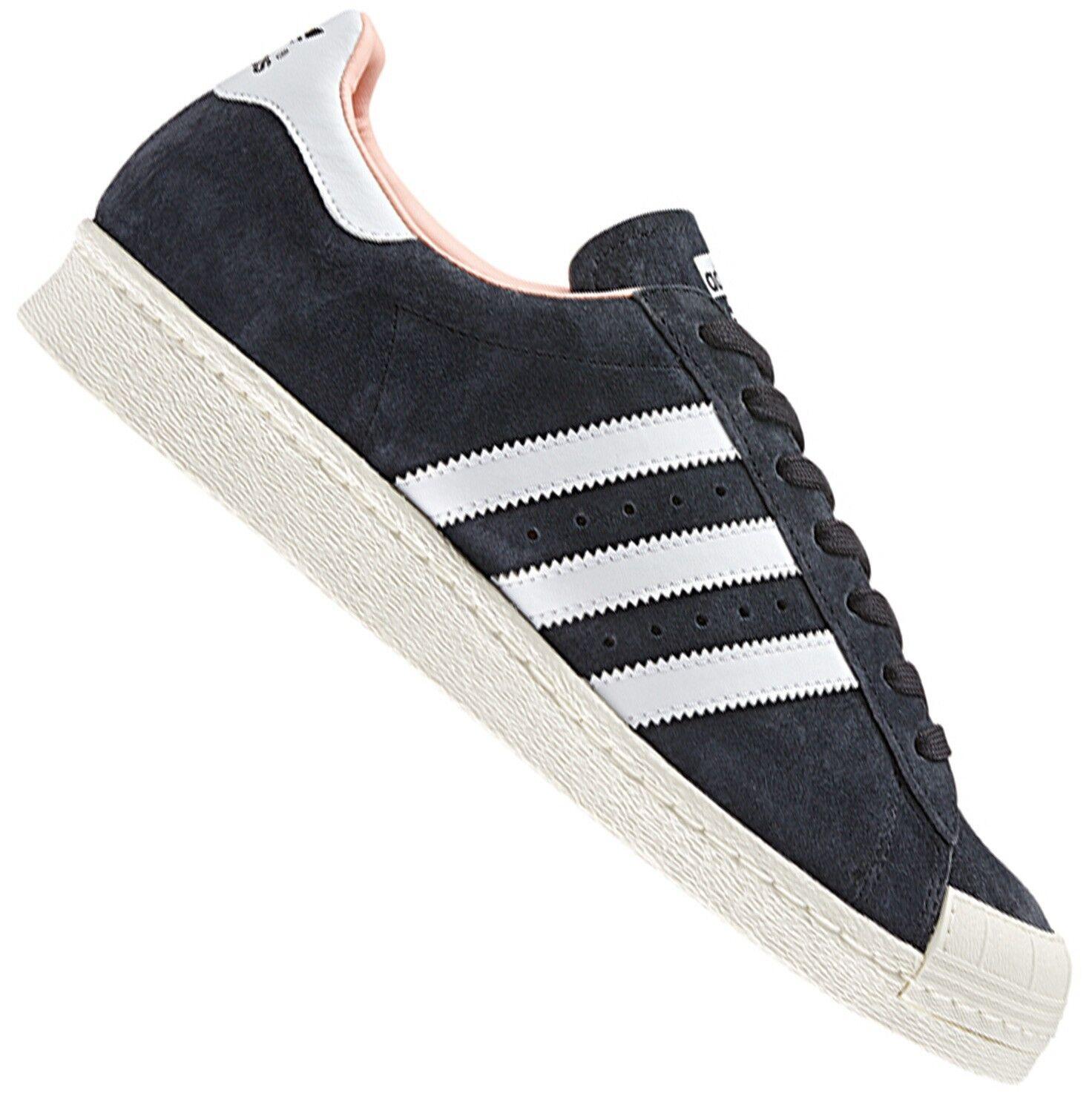 ADIDAS ORIGINALS superstar 80s half Hell cortos de cuero zapatos zapatillas negro