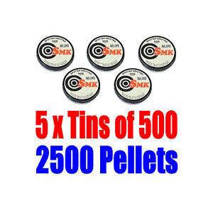 5-x-Tins-of-500-x-22-Caliber-Air-Pistol-Rifle-Pellets