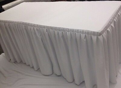4 fitted table skirting cover w top topper single