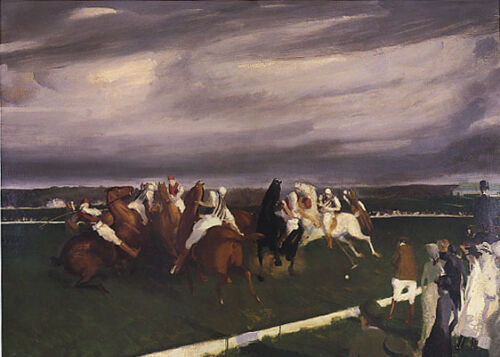 HORSE POLO AT LAKEWOOD AMERICAN PAINTING BY GEORGE BELLOWS REPRO