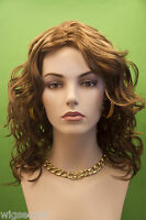 Long Light Chestnut Brown Red Wavy Wig Skin Top