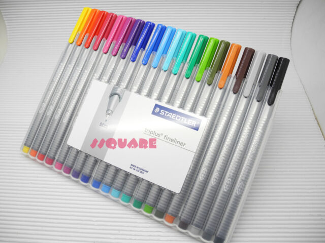 Staedtler Triplus Fineliner 0.3mm Pens 20 Colours Set