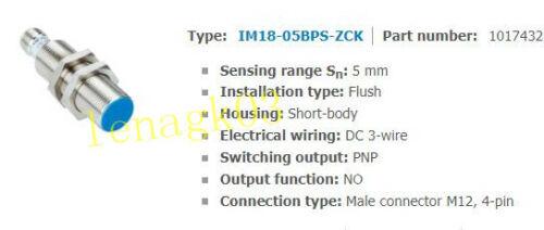 Original SICK OPTIC IM18-05BPS-ZCK PROXIMITY SWITCH