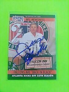 Jerry Glanville Signed 1990 Pro Set #787 Falcons Coach Autograph