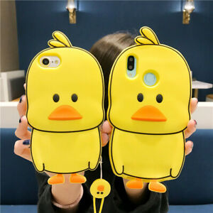 For-iPhone-4S-5G-SE-XR-6-7-8-Plus-Hot-Cute-Silicone-Yellow-Duck-Phone-Case-Cover