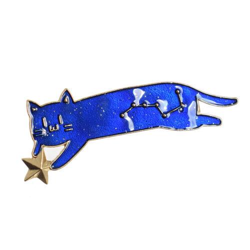 1PC Beautiful Cat Hair Clip Cute Cat Head Hair Pin Star Bobby Pin Lolita Pin