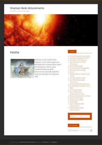 20 Shaman Reiki Attunements Free setup+domain name hosting//business Website