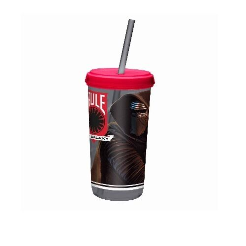 Star Wars The Force Awakens Tumbler Cup with Straw Kylo Ren /& Stormtroopers