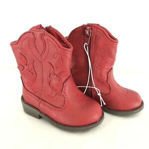Cat & Jack Toddler Girls Arizona Cowboy Cowgirl Boots Red ...