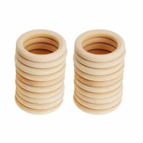 Baby Newborn Natural Round Wood Teething Ring Wooden Teether Toy DIY Gifts 20pcs