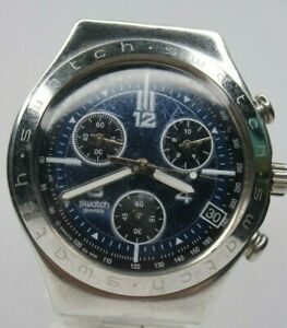 Swatch-Irony-Swiss-Made-Mens-Watch-Blue-Dial-chronograph-stainless-steel