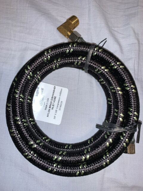 Whirlpool 8212486 10-Feet Nylon Braided Dishwasher Hose