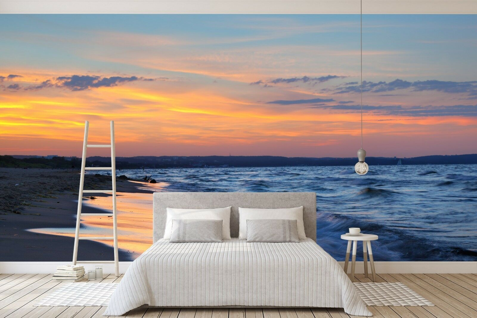 3D Dusk Beautiful Beach 44 Wall Paper Wall Print Decal Wall Deco Indoor Murals