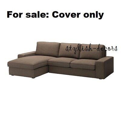 Wondrous Ikea Cover For Kivik Loveseat Chaise 110 1 4 Isunda Brown Sectional Slipcover Ebay Pabps2019 Chair Design Images Pabps2019Com