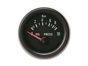 Zusatzinstrument Youngtimer Öldruck Anzeige Öl Druck Schwarz Black Ø52mm