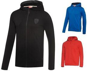 New-Puma-Ferrari-SF-Men-039-s-Full-Zip-Up-Sweatshirt-Hooded-Hoodie-Sweat-Jacket