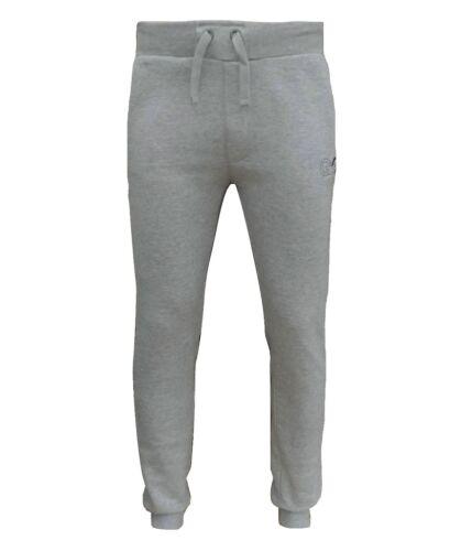Gio Gio Men/'s Afterdark Fleece Joggers Jogging Bottoms Ath Grey