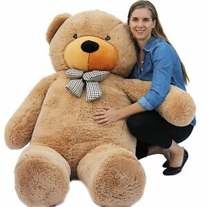 "Joyfay® 78"" 200cm 6.5ft Giant Teddy Bear Brown Huge Stuffed Toy Christmas Gift"