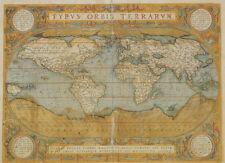 Mappa Del Mondo - Antique Style World Map Poster Poster Print, 20x28