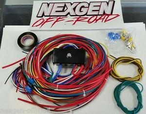 s l300 universal wiring harness with fuse box vw dune buggy sand rail VW Wiring Harness Kits at aneh.co