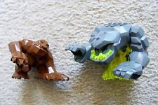 LEGO - Rare - 2 Large Rock Monsters - Power Miners Geolix & Rock Raiders Brown