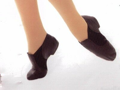 Main St leather Split Sole Jazz boots shoes Tan 3533 neoprene insert RUNS SMALL