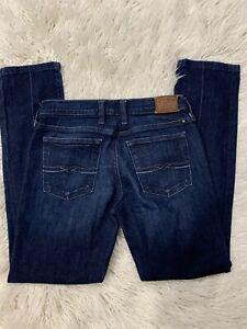 Lucky-Brand-Womens-Sweet-N-Straight-Jeans-Stretch-Denim-Blue-Sz-2-26-Dark-Wash