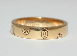 Cartier logo de cartier 18ct yellow gold wedding band ring size k ebay image is loading cartier logo de cartier 18ct yellow gold wedding junglespirit Image collections
