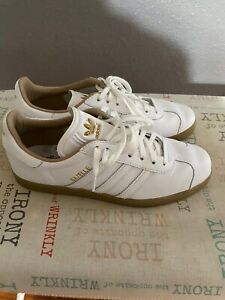 Details about adidas gazelle white leather