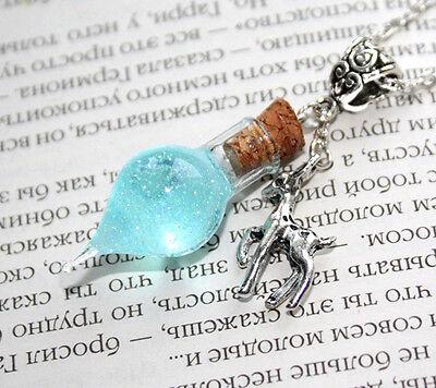 Snape's Tears Memories Glass Bottle Vial, Doe Patronus Necklace. Harry Potter