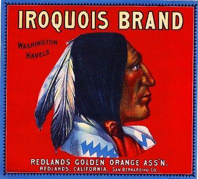 Redlands Ben Hur #2 Roman Empire Chariot Orange Citrus Fruit Crate Label Print