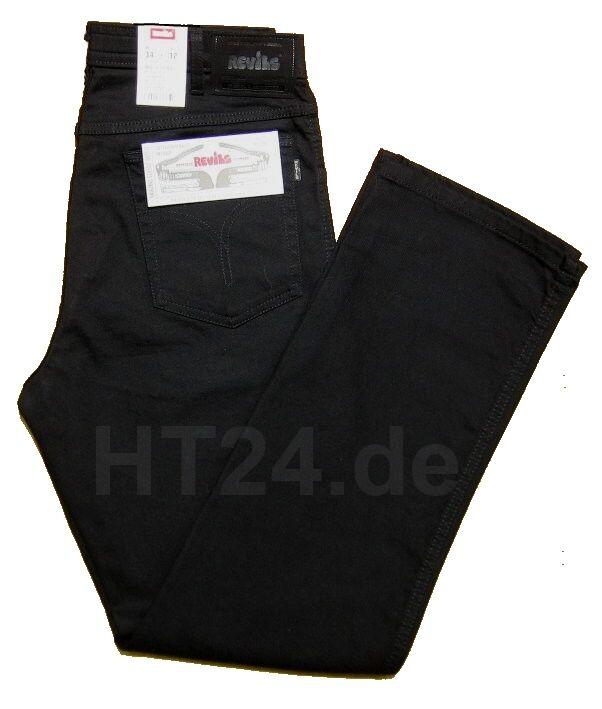 REVILS JEANS 302 V1703 black Stretch von W42 bis W48 inch