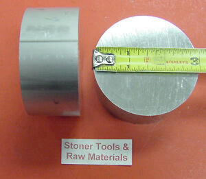 """2 Pieces 3/"""" ALUMINUM 6061 ROUND ROD 3/"""" long T6511 3.00/"""" OD Solid Lathe Bar Stock"""