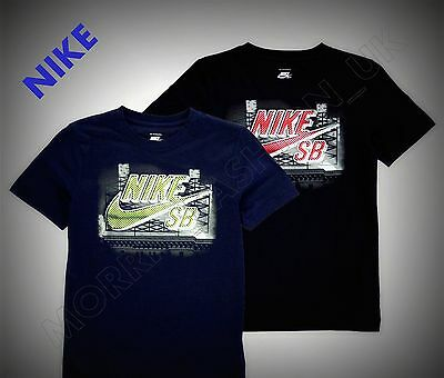 NEW  Boys  Nike Casual Large Printed Sign T Shirt Top Size Age 7-13 Genuine