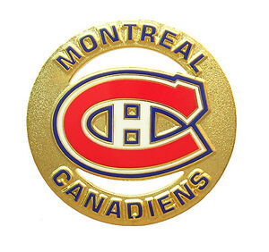 Montreal canadiens golden nhl logo circle pin ebay - Canadiens hockey logo ...