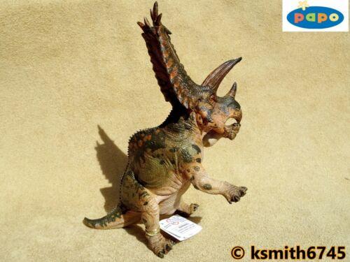 Papo Pentaceratops juguete de plástico sólido Jurassic dinosaurio prehistórico animal nuevo