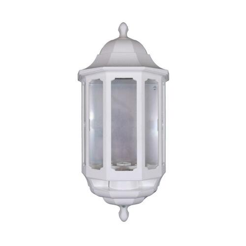 ASD Blanc Demi Lanterne-extérieur//Mur Extérieur-Lumière Verre Clair segments