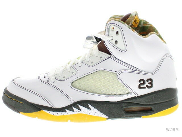 5f45036a391 AIR JORDAN 5 RETRO 136027-121 white drk cndr-drk 5 Size 10.5 sl army-dl  nxtjxy50-Athletic Shoes