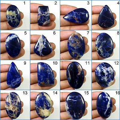 MM. 49X28 Natural Sodalite Sodalite gemstone,cabochon,handmade Sodalite good quality and beautiful design cabochon 57Cts