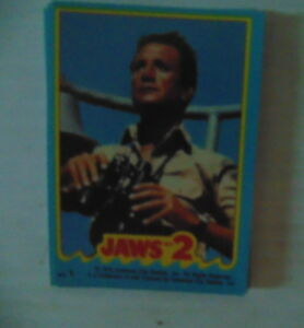 1978 Topps Jaws 2 Complete 11 Card Sticker Set NM