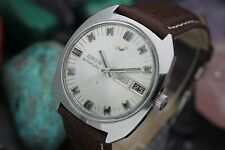 Vintage ENICAR Ocean Pearl Day Date Automatic 24j Stainless Steel Men's Watch
