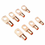 130x Copper Tube Terminals Battery Welding Cable Lug Ring Crimp Connector Kit UK
